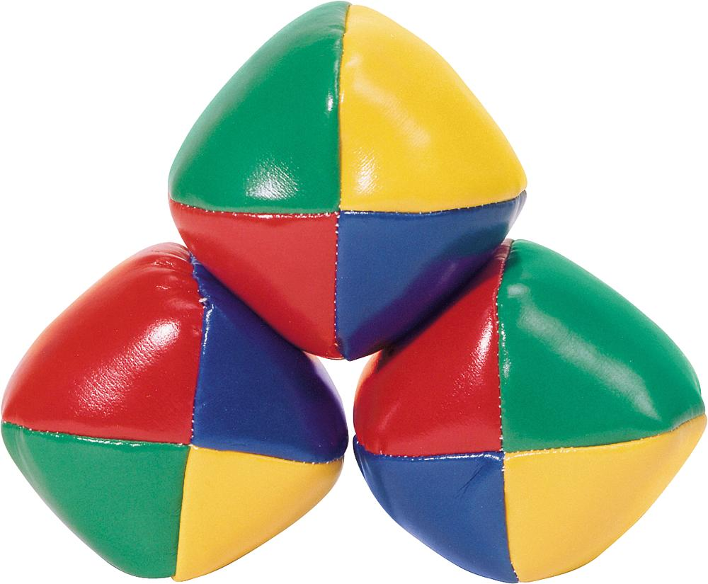 Multi color juggle balls