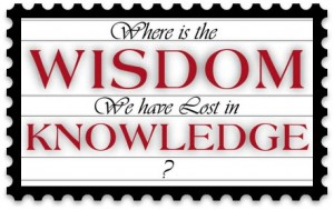 wisdom vs knowledge